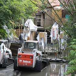 Shrunken Ned's Junior Jungle Boats refurbishment