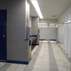 Former Tomorrowland Skyway Station interior restroom