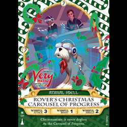 Rover's Christmas Carousel of Progress Sorcerers of the Magic Kingdom Card 2017