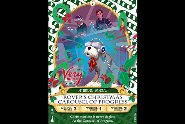 Rovers Christmas Carousel Of Progress Sorcerers The Magic Kingdom Card For This Years Very Merry