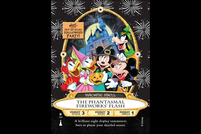 'The Phantasmal Fireworks' Flash' Sorcerers of the Magic Kingdom Halloween Party card