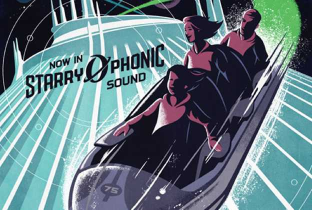 Space Mountain 'Starry-O-Phonic Sound' poster
