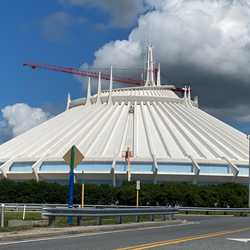 Space Mountain exterior refurbishment - September 2020