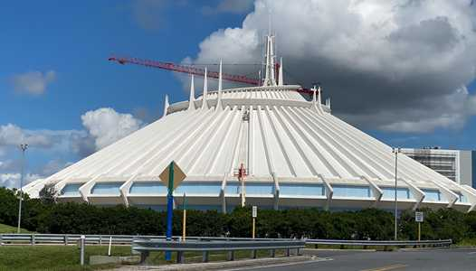 PHOTOS - Exterior work on Space Mountain at the Magic Kingdom