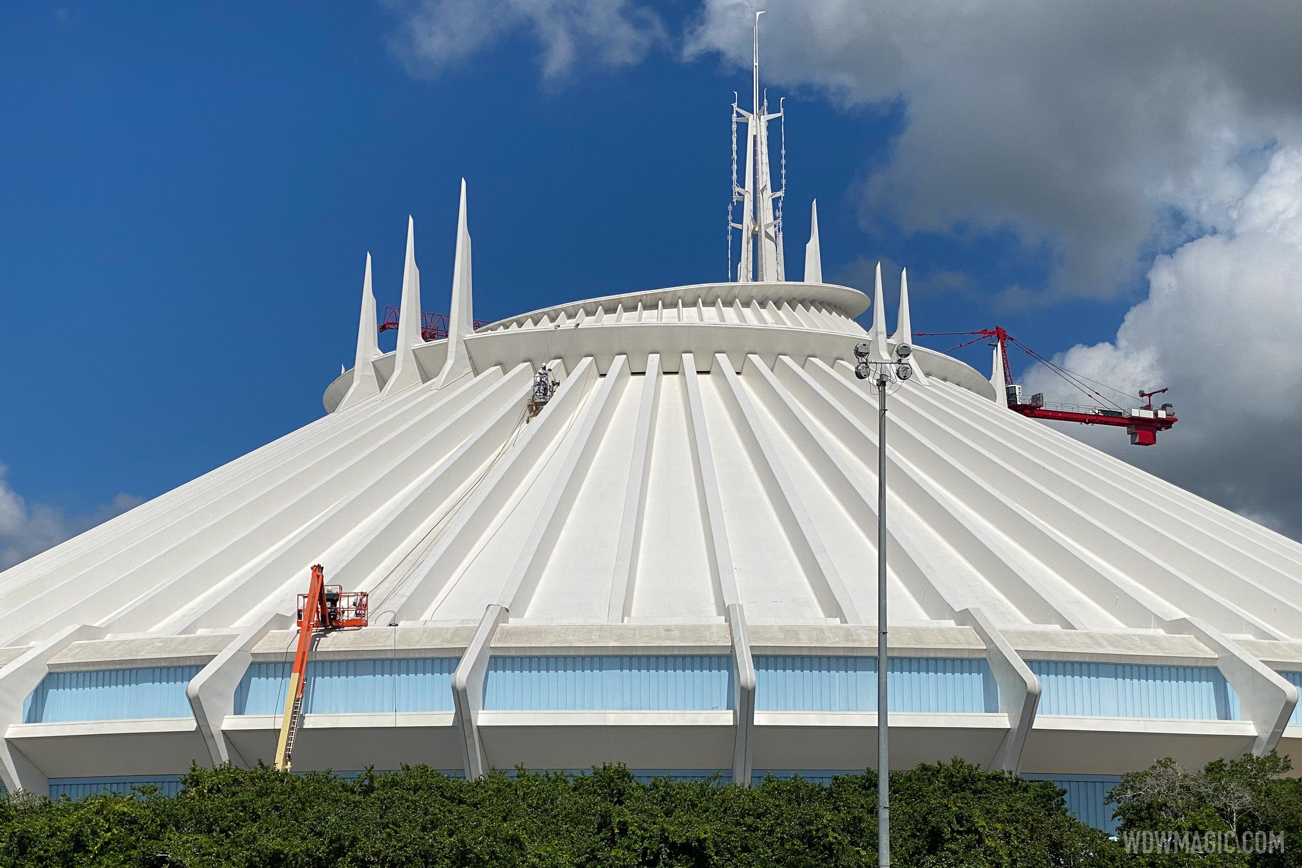 Space Mountain exterior refurbishment - September 2020