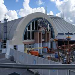 Space Mountain refurbishment exterior