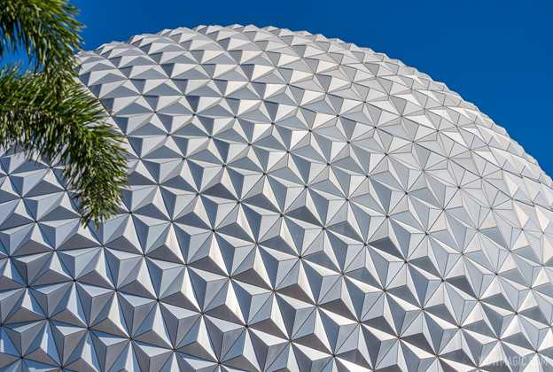 Spaceship Earth point of lights installation - April 15 2021