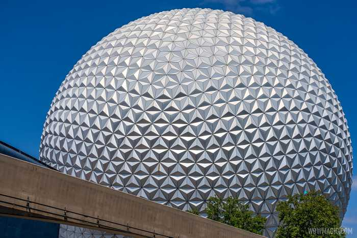 Spaceship Earth point of lights installation - April 21 2021