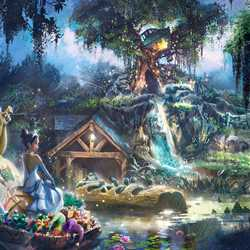 Princess and Frog Splash Mountain retheme concept art