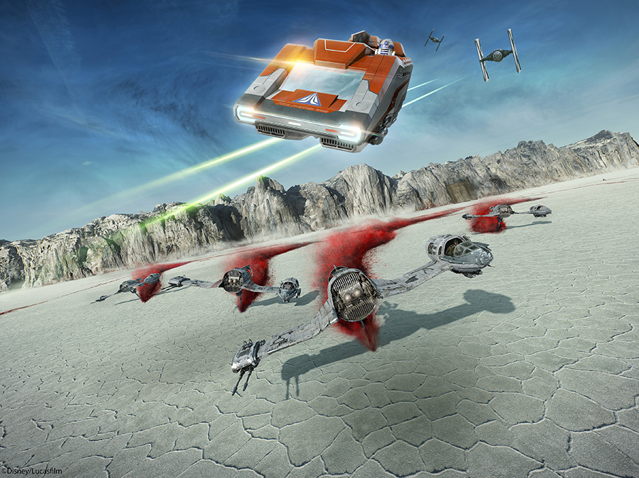 New Star Tours destination on the planet of Crait