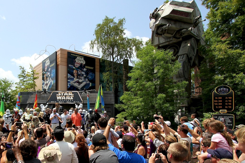 Star Tours was the first Star Wars ride at a Disney theme park