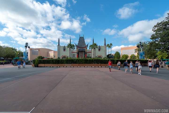 PHOTOS - Concrete work in Center Stage area at Disney's Hollywood Studios