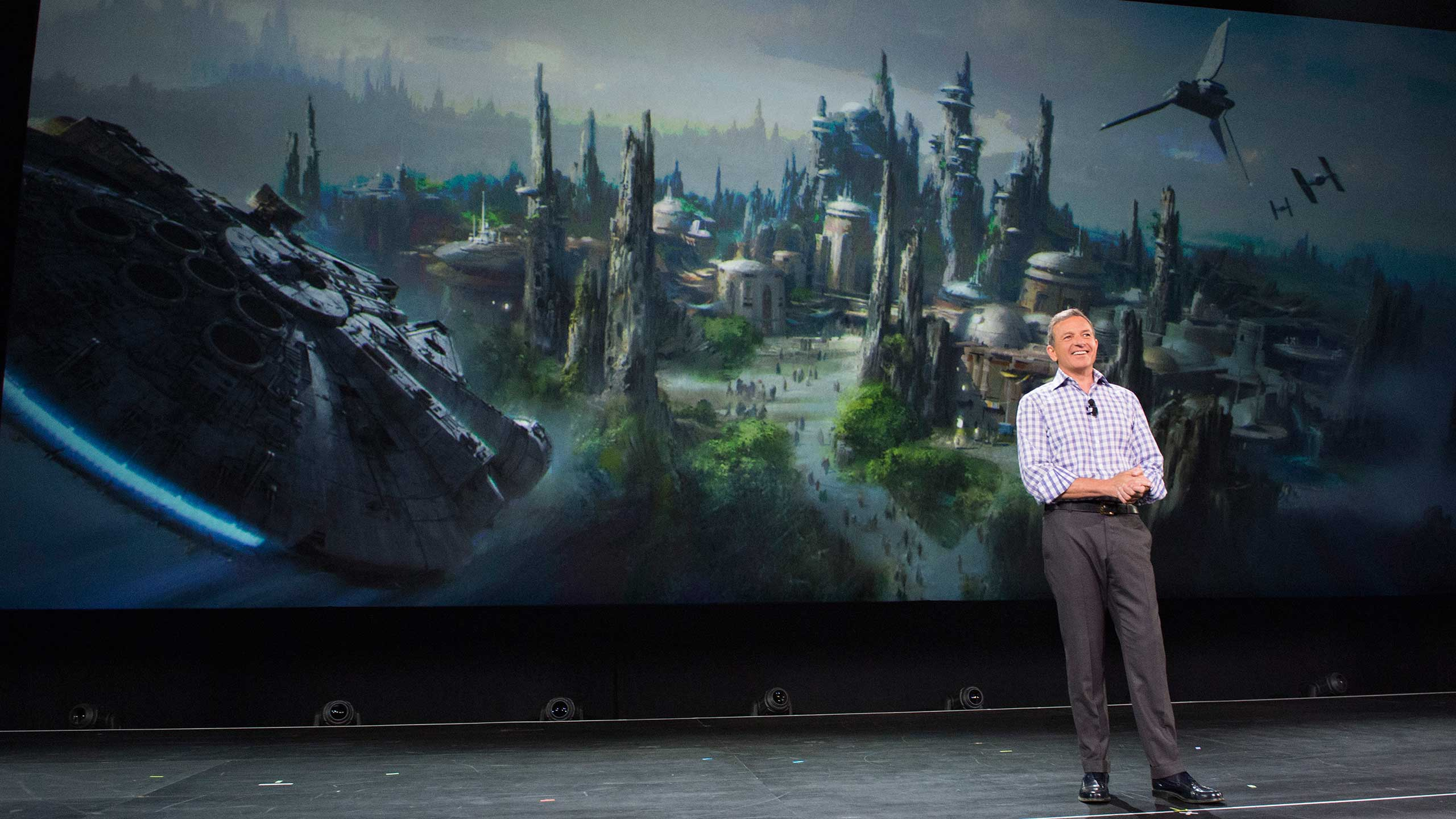 Bob Iger announcing Star Wars Land at D23 EXPO 2015
