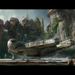 Star Wars Land concept art from Disneyland 60 Celebration Show
