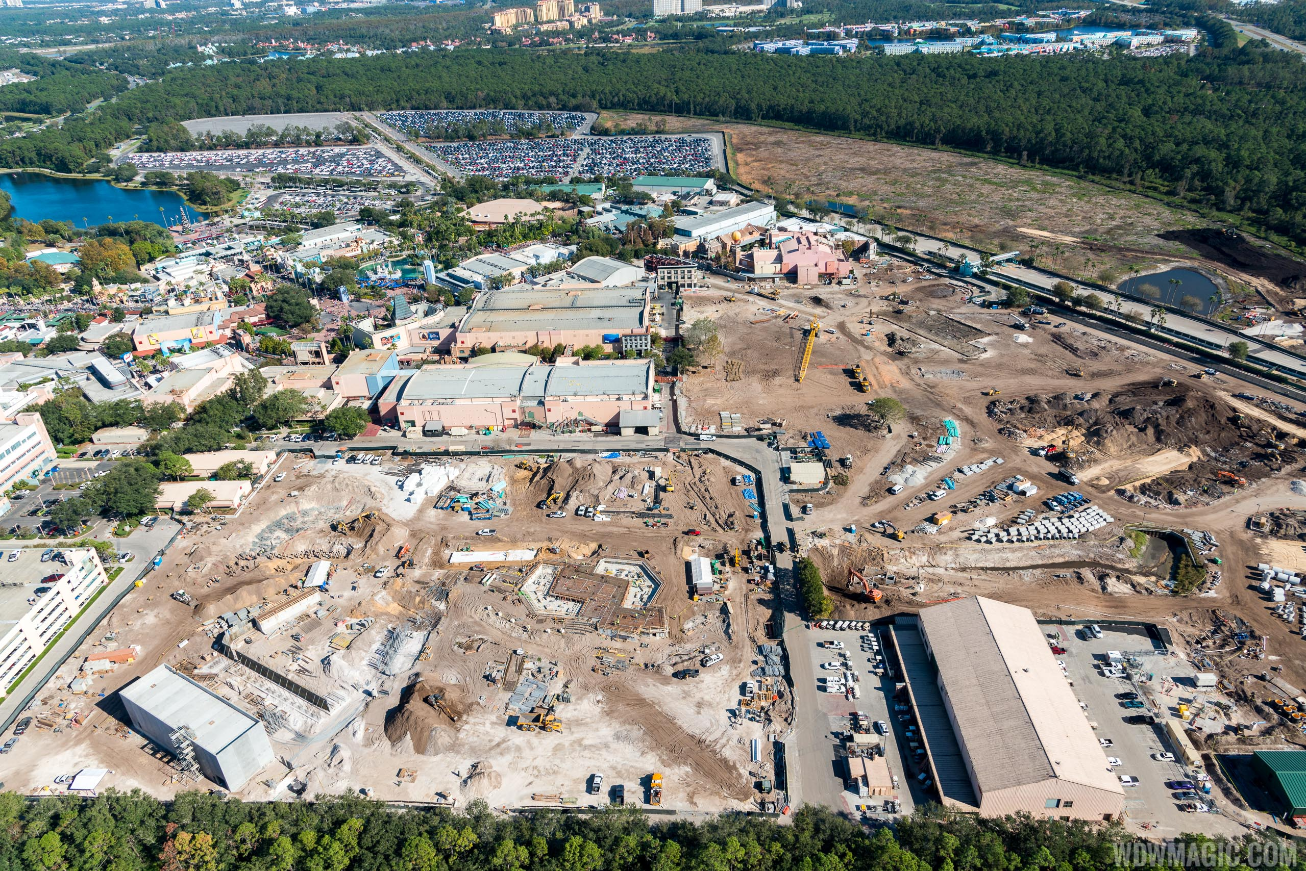 Photo by CJ Berzin @BerzinPhotography. Star Wars Land aerial view.