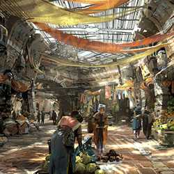 Star Wars Land at Disney's Hollywood Studios concept art