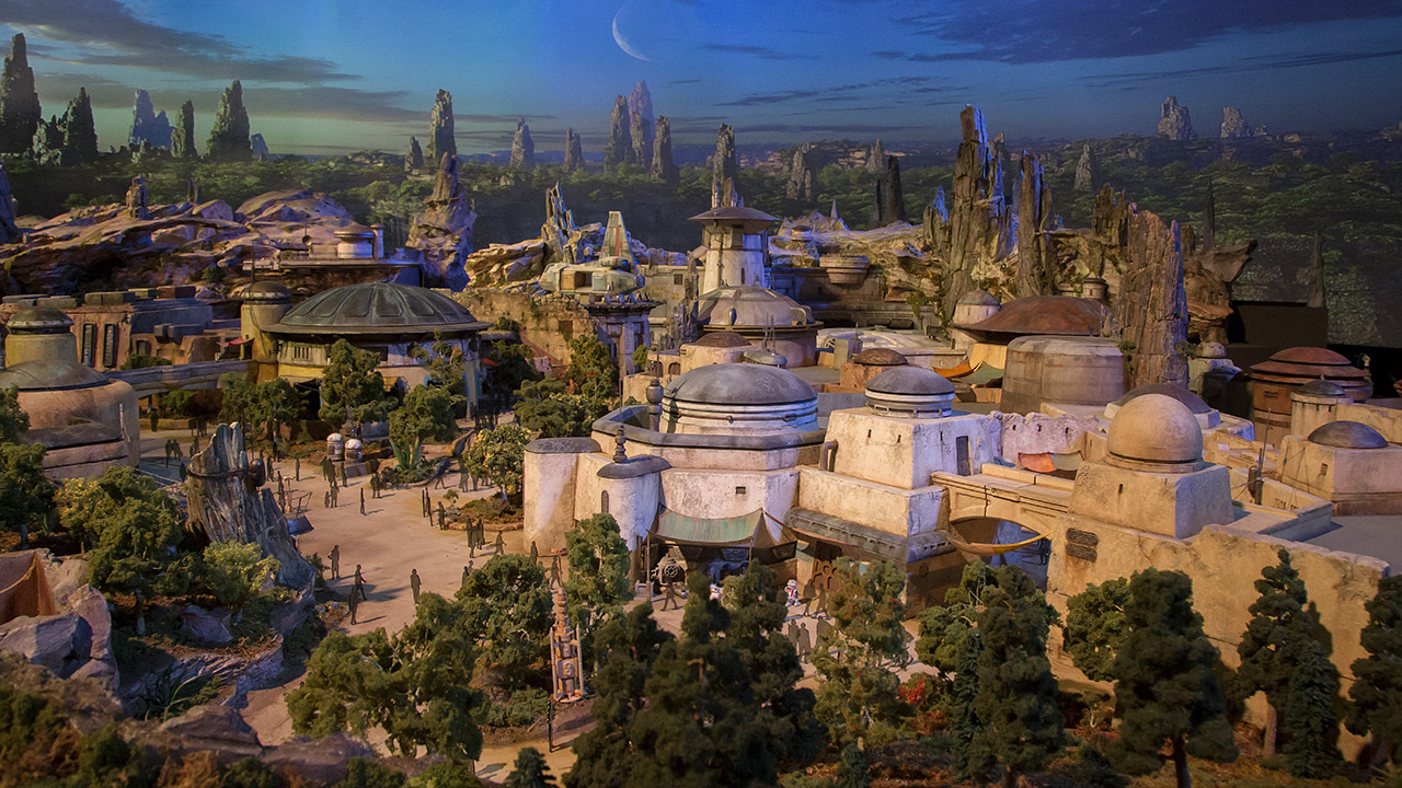 Star Wars Land model at the D23 Expo