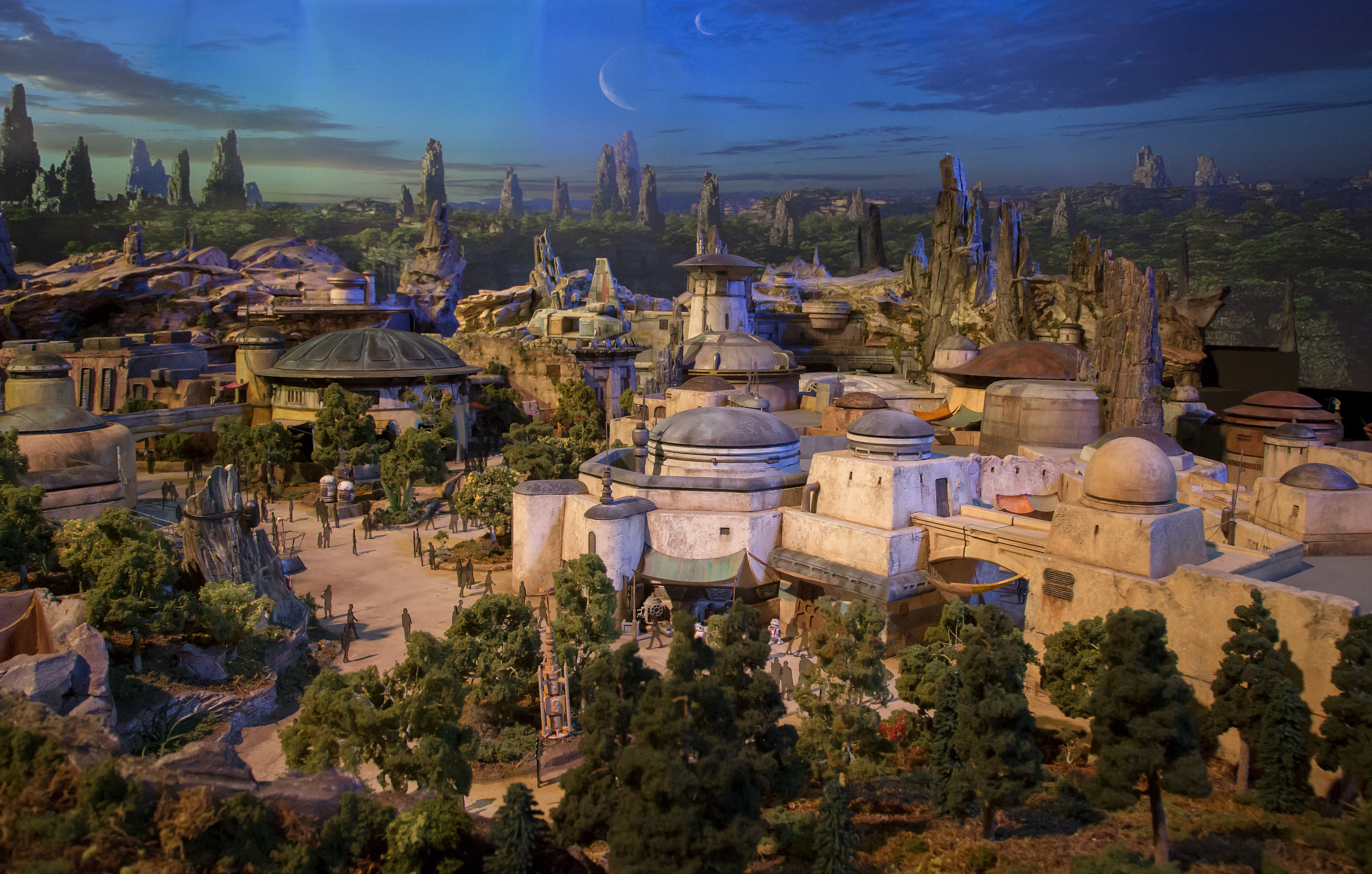 Star Wars Land model in detail