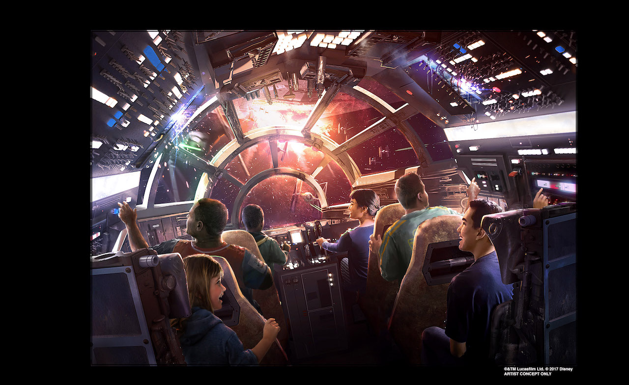 Millenium Falcon ride at Star Wars Galaxy's Edge