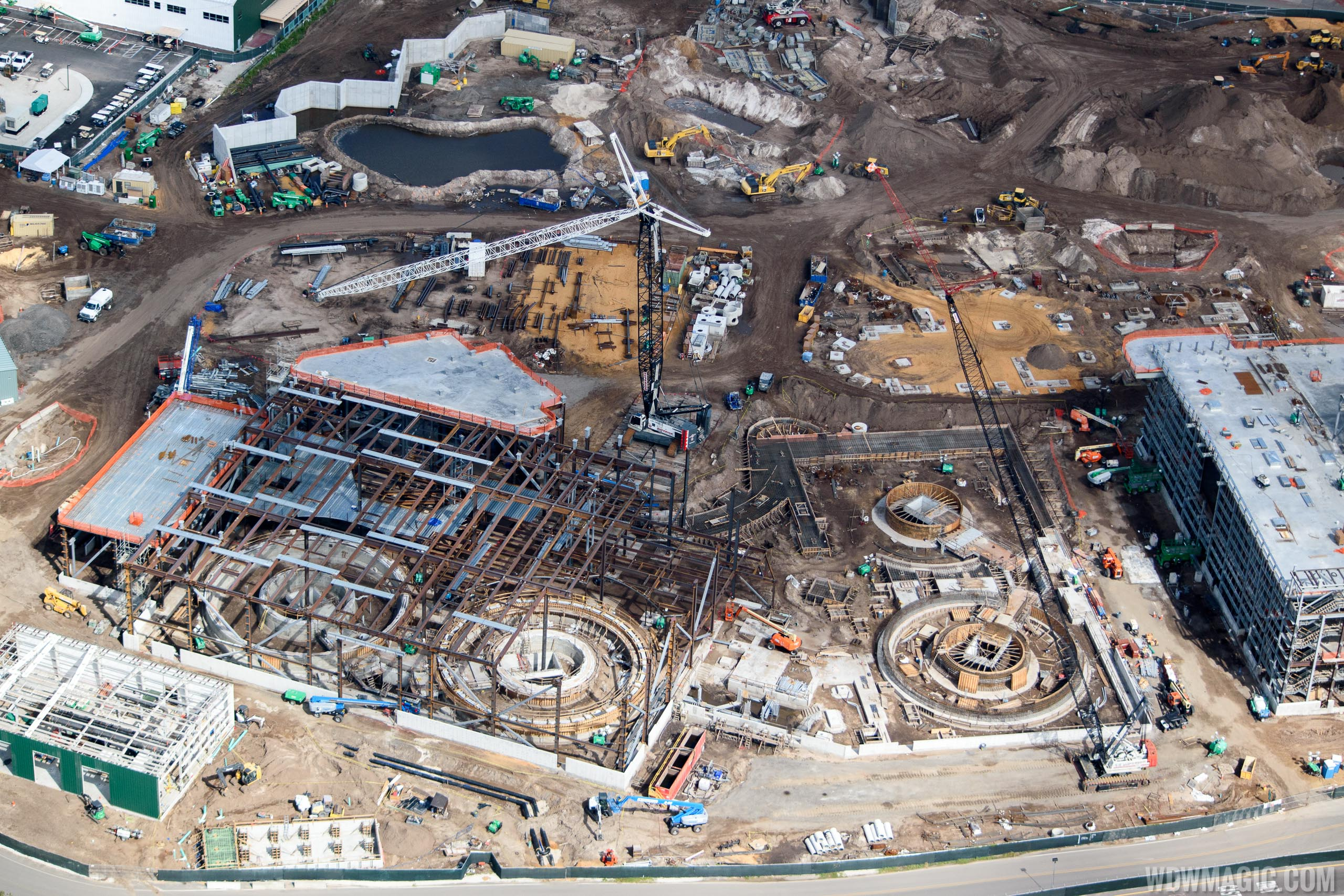 Star Wars Galaxy's Edge construction from the air