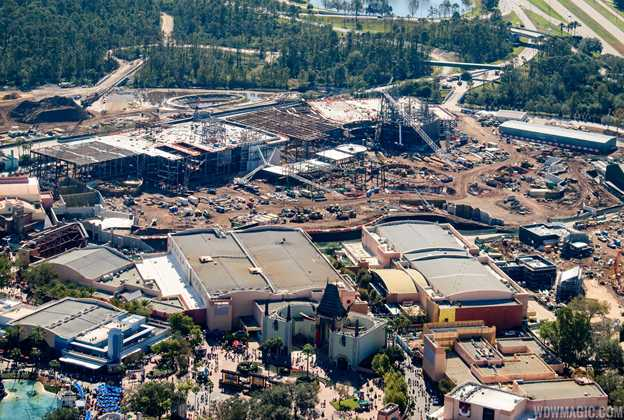Star Wars Galaxy's Edge aerial pictures