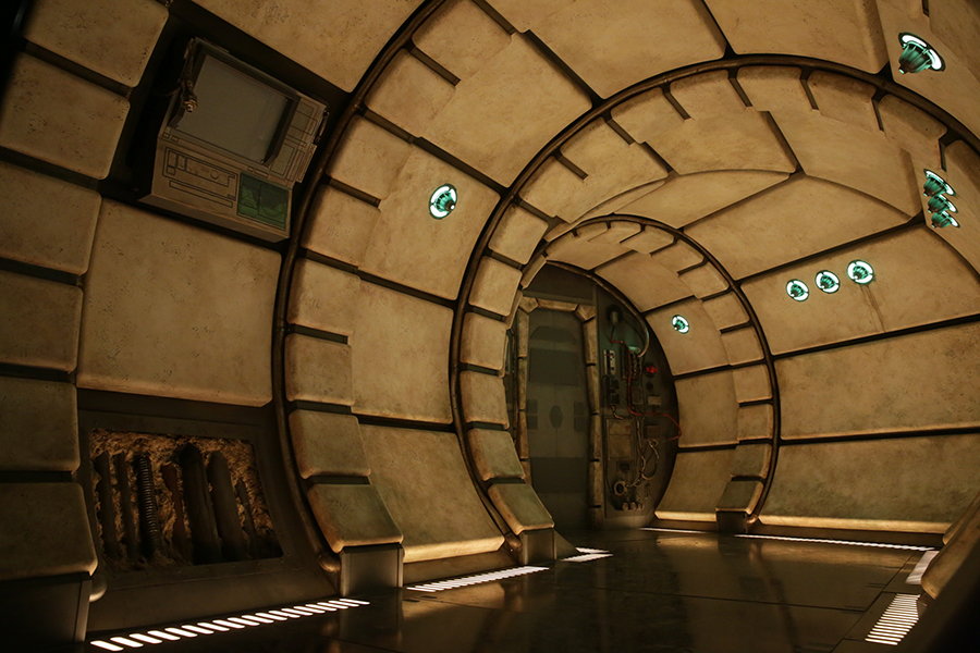 Inside the Millennium Falcon at Star Wars Galaxy's Edge