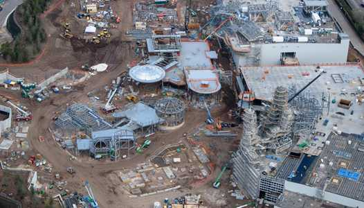 PHOTOS - Birds-eye view of Star Wars Galaxy's Edge construction at Disney's Hollywood Studios