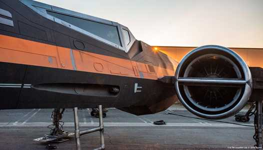 PHOTOS - X-wing Starfighter that will be seen in Star Wars Galaxy's Edge