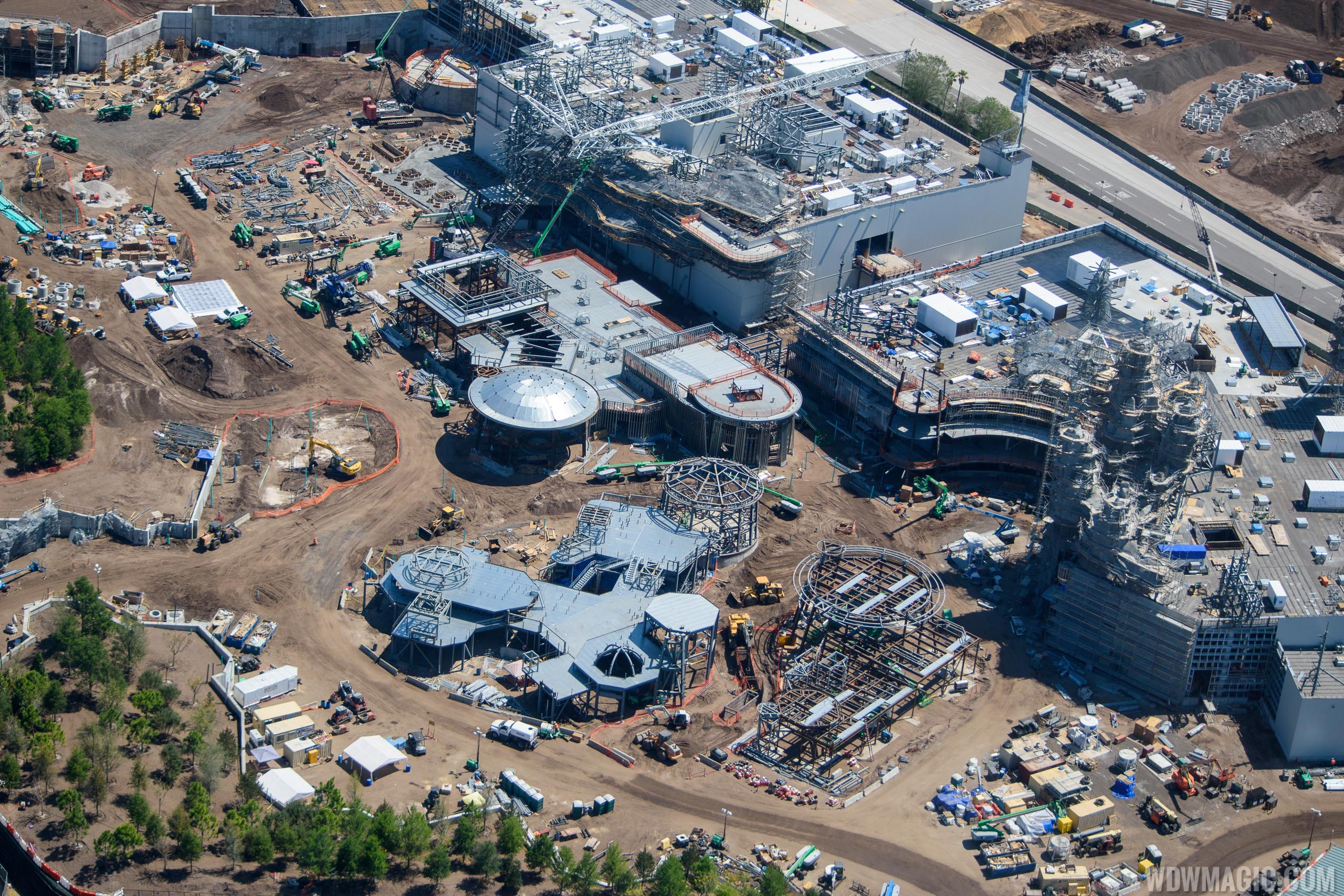 Star Wars Galaxy's Edge aerial pictures - March 2018