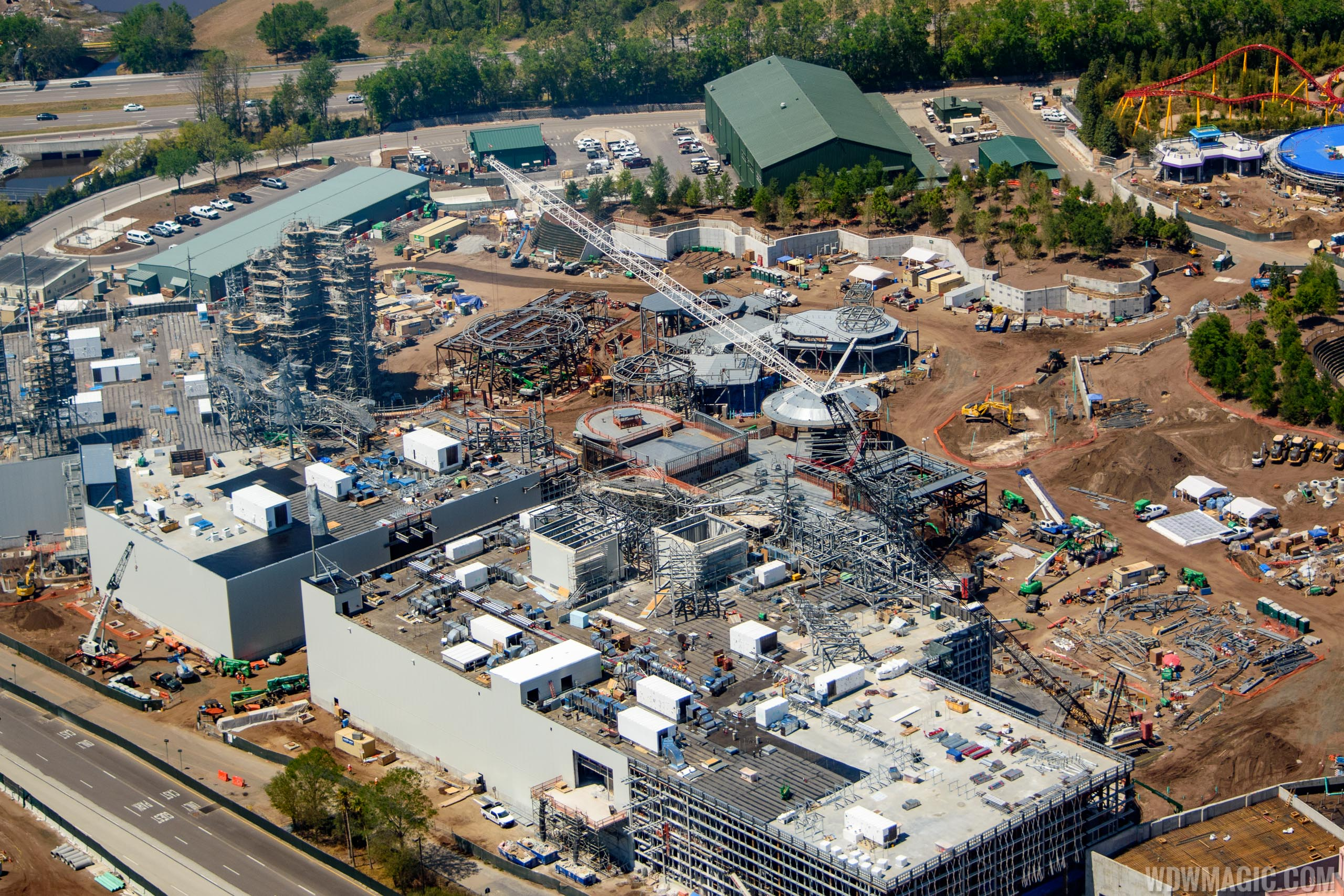 Photos Aerial Pictures Of Star Wars Galaxy S Edge Construction At Disney S Hollywood Studios
