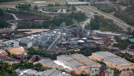PHOTOS - Aerial views of Star Wars Galaxy's Edge construction at Disney's Hollywood Studios