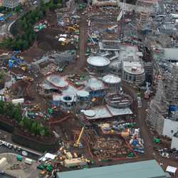 Star Wars Galaxy's Edge aerial pictures - May 2018