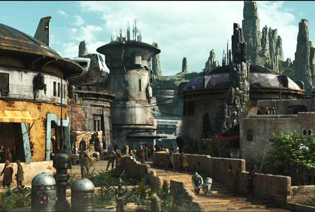 Black Spire Outpost inside Star Wars Galaxy's Edge