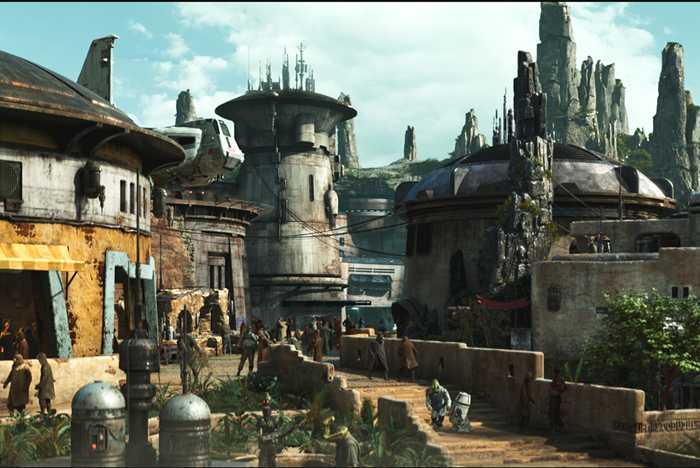 Black Spire Outpost inside Star Wars Galaxy's Edge