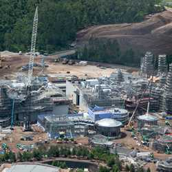 Star Wars Galaxy's Edge aerial pictures - June 2018