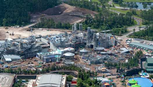 PHOTOS - Aerial views of Star Wars Galaxy's Edge construction