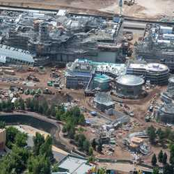 Star Wars Galaxy's Edge aerial pictures - July 2018