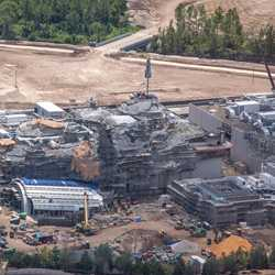 Star Wars Galaxy's Edge aerial pictures - August 2018