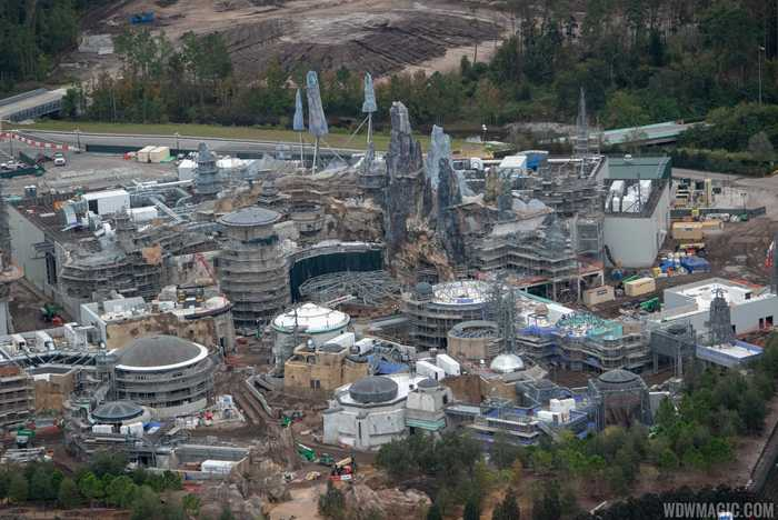 Star Wars Galaxy's Edge aerial pictures - December 2018