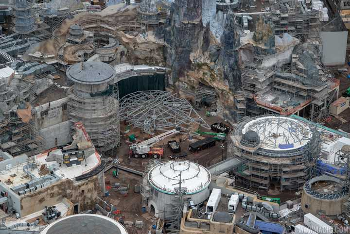 PHOTOS - Aerial views of Star Wars Galaxy's Edge at Disney's Hollywood Studios including the Millennium Falcon