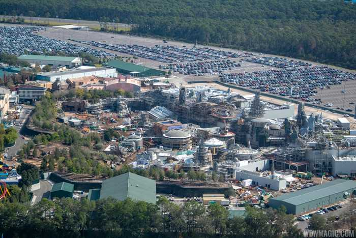 Star Wars Galaxy's Edge aerial pictures - January 2019