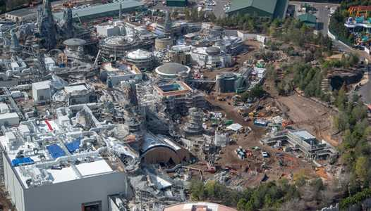 PHOTOS - Star Wars Galaxy's Edge aerial construction pictures
