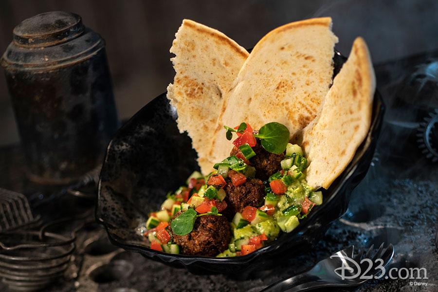 Docking Bay 7 Food and Cargo - The Felucian Garden Spread (Kefta meatball)