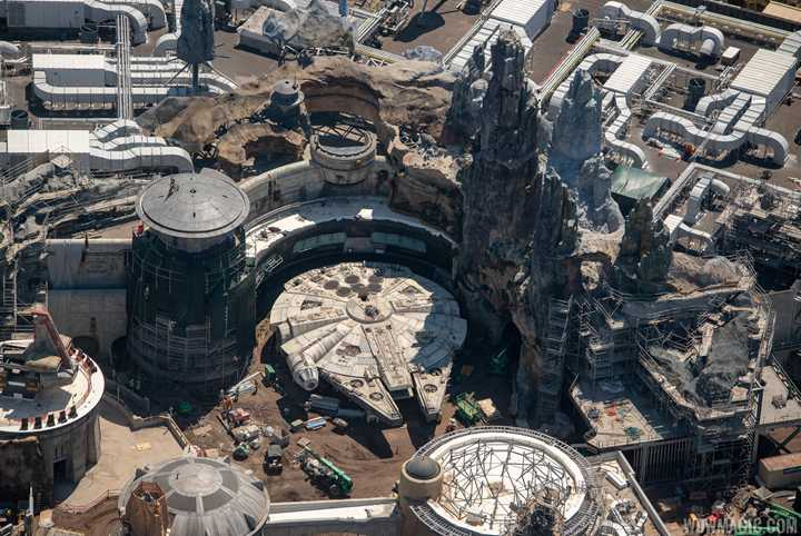 PHOTOS - Star Wars Galaxy's Edge aerial construction pictures from Walt Disney World