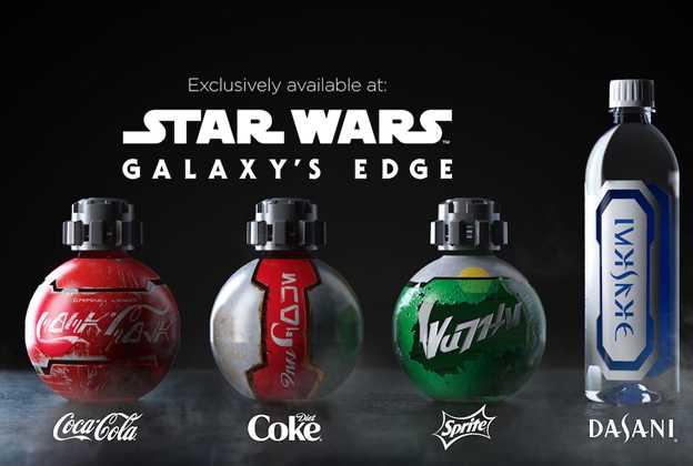 Star Wars Galaxy's Edge Coca-Cola products