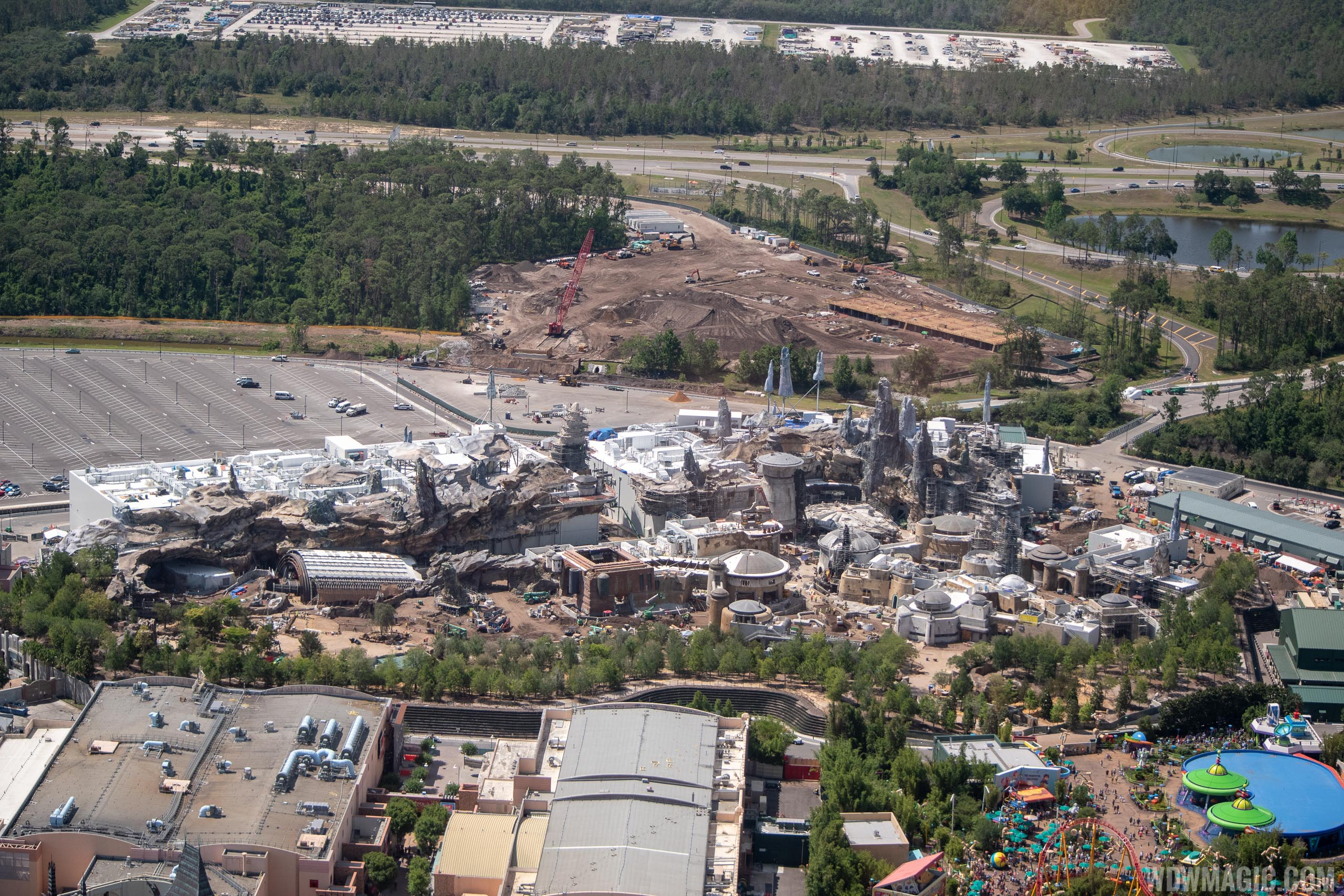 Star Wars Galaxy's Edge aerial pictures - May 2019