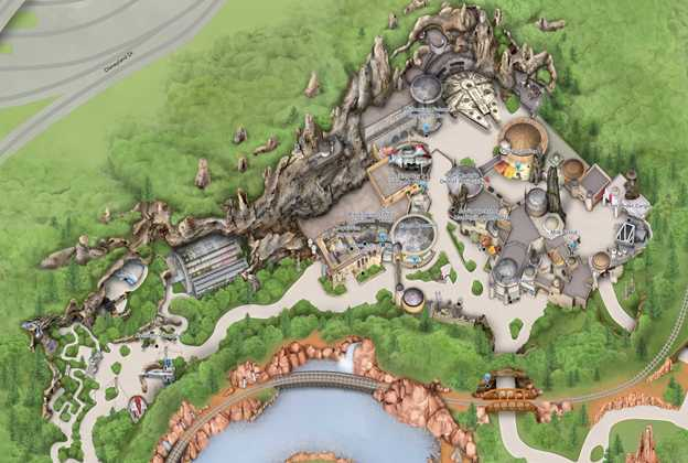Star Wars Galaxy's Edge Disneyland Guide-map