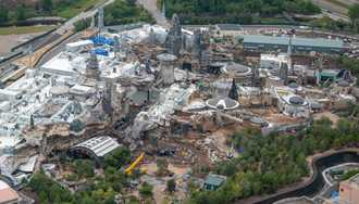 PHOTOS - Latest Star Wars Galaxy's Edge aerial construction pictures from Disney's Hollywood Studios