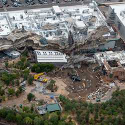 Star Wars Galaxy's Edge aerial pictures - June 2019