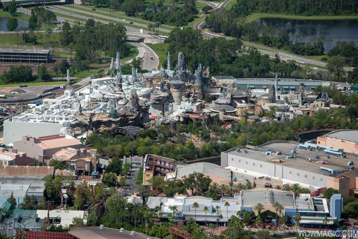 PHOTOS - Aerial tour of a near-complete Star Wars Galaxy's Edge at Walt Disney World